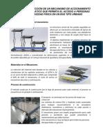 Diseño y Construcción de Un Mecanismo de Accionamiento Hidráulico
