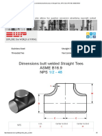 Dimensions and Dimensional Tolerances of Straight Tees, NPS 1_2 to NPS 48, ASME B16