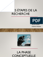 Presentation - Etapes de La Recherche