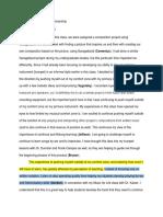 developing vernacular musicianship - artifact 2 garageband project - processfolio