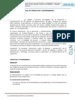 3. Manual de Operacion y Mantenimiento