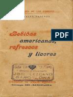Bebidas Americanas Refrescos y Licores (1905)