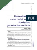 El Escándalo Madoff. Lamothe 2009