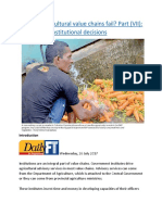Why do agricultural value chains fail  Part (VII) Unforeseen institutional decisions.docx