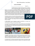 LECTURA ED FÍSICA N°09 HANDBOL