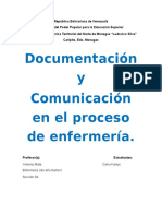 Documentación y Comunicación en El Proceso de Enfermería