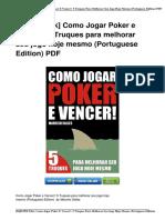 Como Jogar Poker Vencer Portuguese eBook