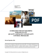 Guidelines for Establishing Ethanol Plant Quality Assurance and Quality Control