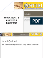 Perkuliahan 5 - Organisasi Dan Arsitektur Komputer - IO