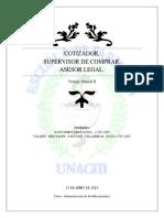 requisitos para cotizador, supervizor, asesor legal