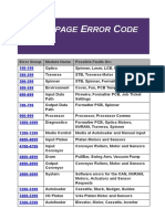 Error Code Guide