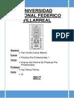 Informe de La Práctica Pre Profesional