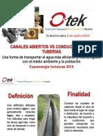 Canales Abiertos vs Conducciones en Tuberías