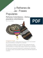 Dichos y Refranes de Colombia
