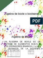 Algebra de Boole o Booleana