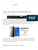 How to Root Xperia Z3 on Marshmallow 6.0