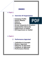 Performance Appraisal in Vadilal