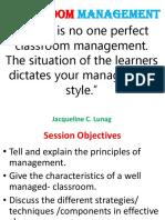 Classroom Management Presentation 4-30-09