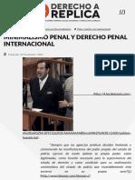 MINIMALISMO PENAL Y DERECHO PENAL INTERNACIONAL - Derecho a Réplica