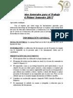 Lineamientos Generales Trabajo Final Mercadeo Internacional