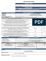 Job Analysis Template Legal Affairs Department