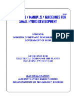 3.6 Guidelines for Electrical Design for SHP Plants Including Switchyard