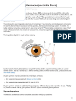 Dry Eye Syndrome Keratoconjunctivitis Sicca