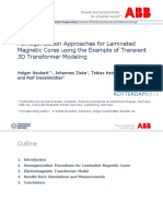 Homogenization Approaches for Laminated Magnetic Cores Using the Example of Transient 3D Transformer Modeling Neubert_presentation