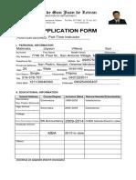 Application Form LEtran