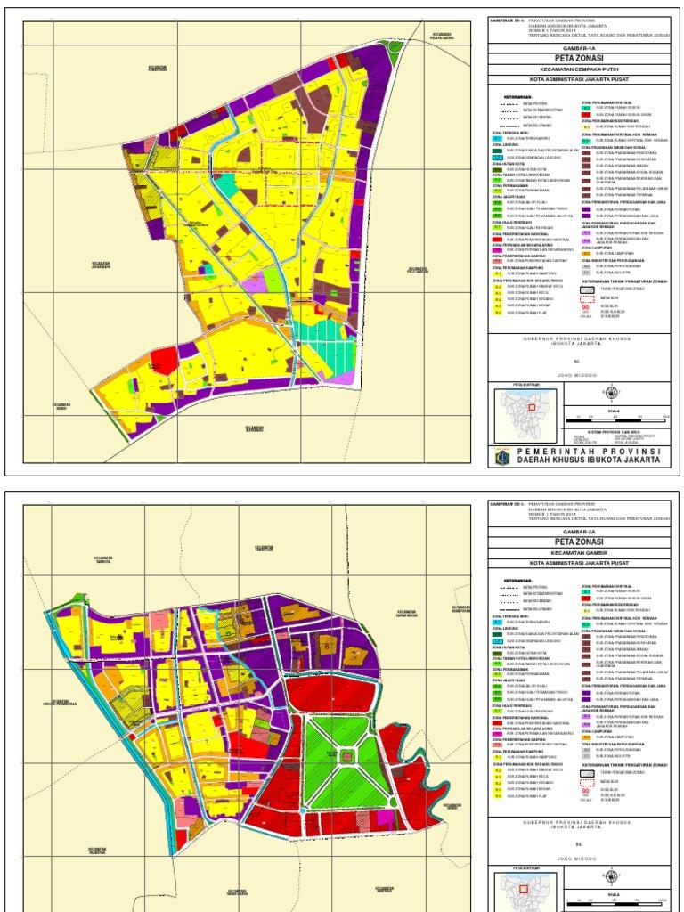 Peta Zonasi Jakarta Selatan 2019 - Nusagates
