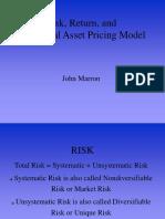Capital Asset Pricing Model _CAPM