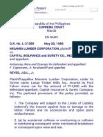 Misamis Lumber v. Capital Insurance