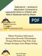 efikasi nebulasi dengan salbutamol - ipratropium bromide dibanding salbutamol terhadap serangan asma pada anak