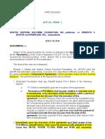 Santos Ventura Hocorma Foundation vs. Santos