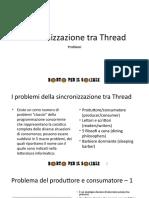 Sincronizzazione Tra Thread