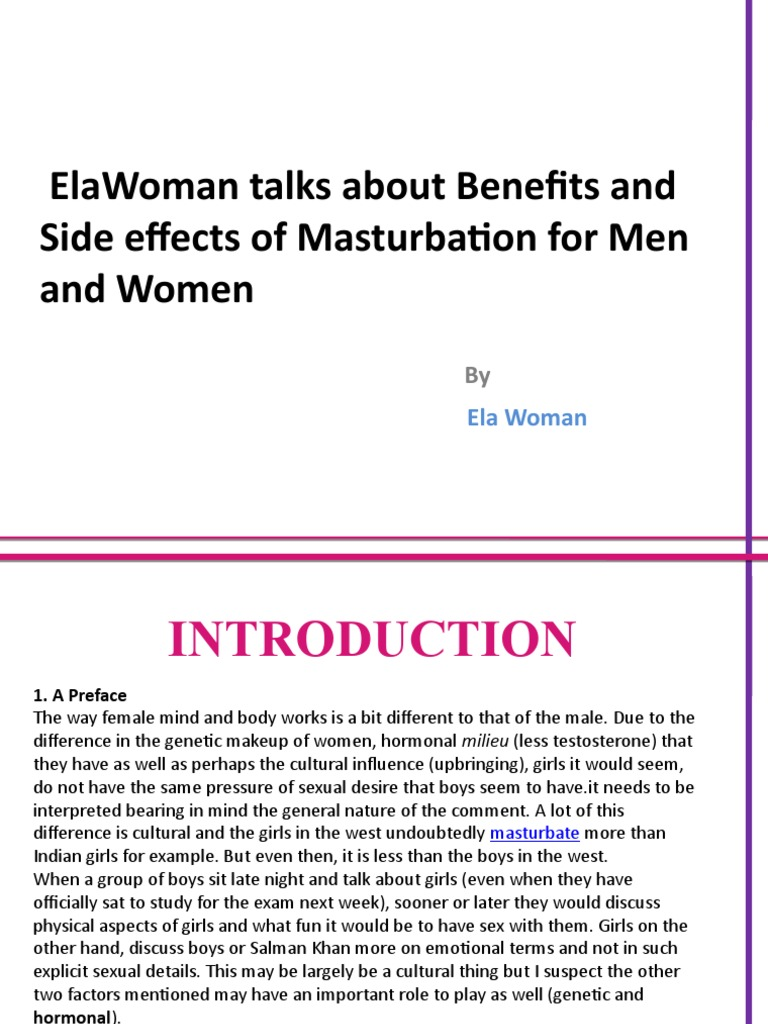Benefits And Side Effects Of Masturbation For Men And Women Masturbation Sexual Intercourse