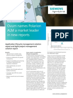 Siemens PLM Ovum Names Polarion ALM a Market Leader in New Reports
