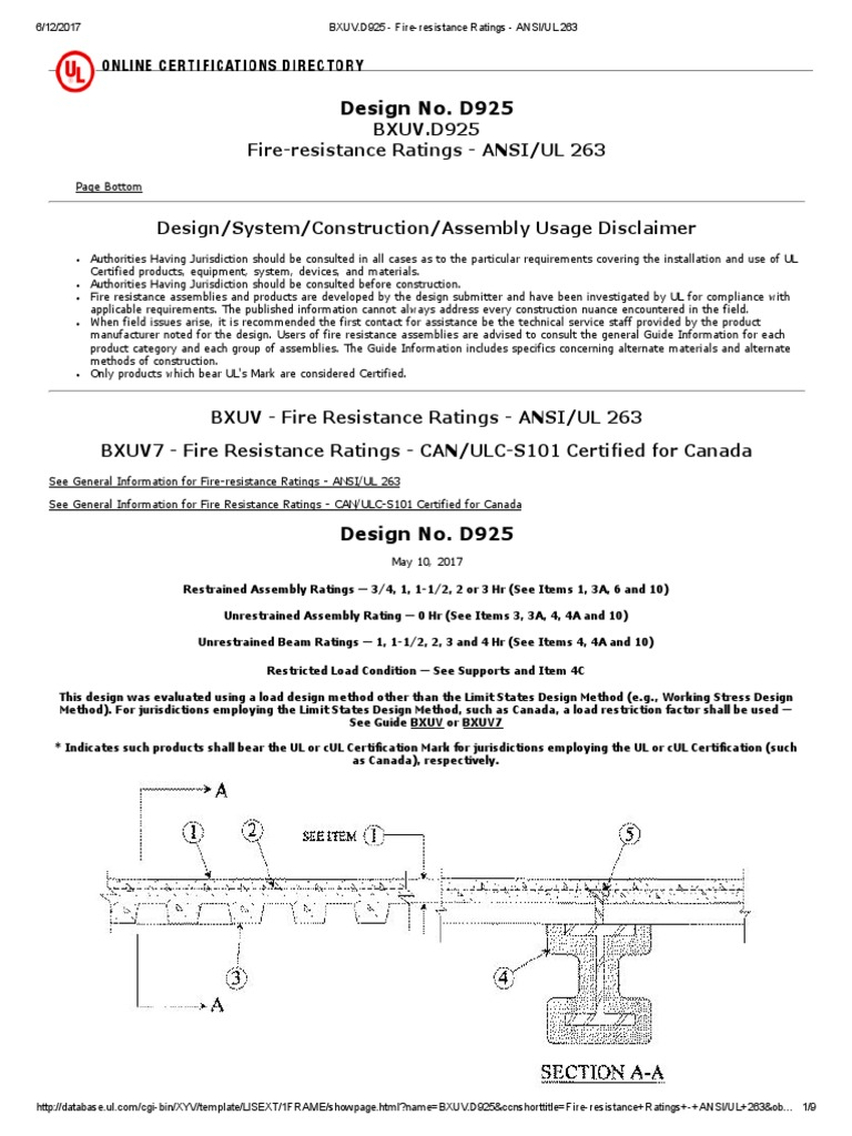 Ul Design D925 Concrete Beam Structure