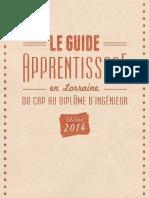 Guide Apprentissage en Lorraine Edition 2014