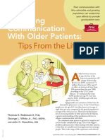 Improving Communication With Older Patients