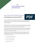 PWHT Websites
