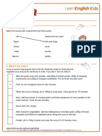 Emailing Worksheets Typical Dish