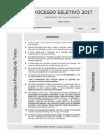 Prova 2ª Fase UFPR 2016.2017 - Compreensão e Produção de Textos