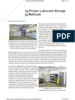 Implementing Proper Lubricant Storage and Handling Methods