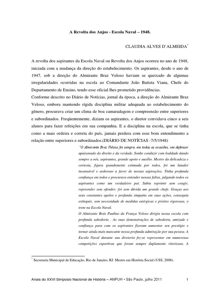 D'Almeida, Claudia - A Revolta Dos Anjos - Escola Naval