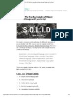 S.O.L.I.D Patterns in JavaScript