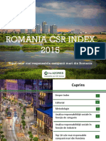 Romania CSR Index 2015