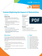 Lesson- Exploring the Impact of Malnutrition
