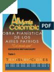 ARMONIA COLOMBIANA TRANSCRIPCIONES. Obras Pianisticas de los Aires Patrios. Tomo 1.  Gerardo Betancourt.