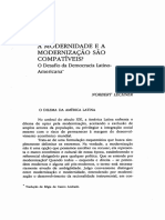 LECHNER. a Modernidadee a Modernizacão SdoCompativels 0 Desafio Dademocracia LatIno-Americana.